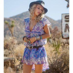 Spell Boho Blossom Play dress Lavender